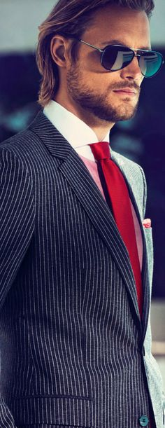 #Suit #Tuxedo #Red Tie. @Jason Stocks-Young Stocks-Young Stocks-Young Jones Style Weddings.