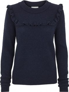 Wilson knit O-neck navy