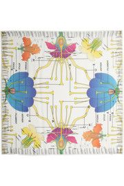 Christopher KaneFloral-print modal and cashmere-blend scarf