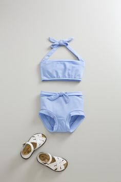 belted two piece swimsuit-p by flora and henri