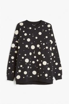 Monki Image 1 of Oversize sweatshirt  in Black
