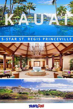 Bask in island paradise overlooking Hanalei Bay, Hawaii at the 5-star St. Regis Princeville Resort. Explore the best travel deals, cheap flights and hotels at http://www.travelzoo.com/hotels/hawaii/-495-Kauai-St-Regis-Resort-w-100-Credit-Parking-2328477/?ptl=done&rating=&utm_source=_Pinterest&utm_medium=social&utm_campaign=StRegisPrinceville&source=_pinterest