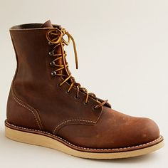 c14d473fedc88 red wing for jcrew Mens Lace Up Boots