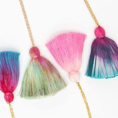 Simple one cotton tassel necklace with just a pinch of statement! 🎈
