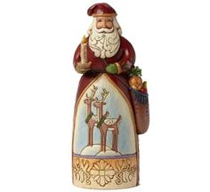 """Jim Shore """"Merry and Bright"""" Santa with Candle"""