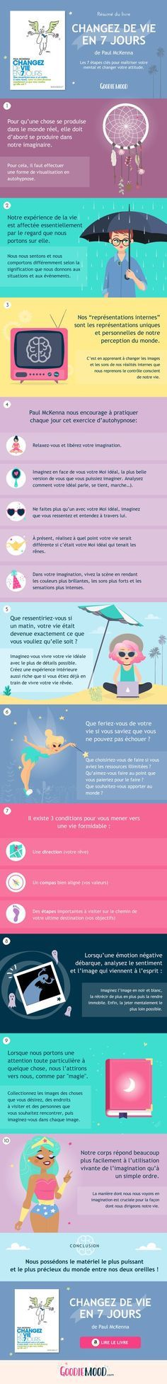 """résumé de """"changez de vie en 7 jours"""" de paul mckenna - Tap the link now to Learn how I made it to 1 million in sales in 5 months with e-commerce! I'll give you the 3 advertising phases I did to make it for FRE Positive Mind, Positive Attitude, Paul Mckenna, Miracle Morning, Daily Meditation, I Feel Good, Good Mood, Self Development, Personal Development"""