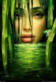yuehui Tang  Sadness  Painter, Photoshop  May 2009