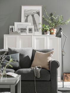 Three new products for flexible summer living – IKEA Ikea Interior, Gray Interior, Home Interior Design, Cozy Living Rooms, Living Room Grey, Living Area, Ikea Bank, Ikea Sectional, Ikea Home