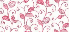 Waterbury Trail (839-T-9268) - Thibaut Wallpapers - A trailing stylised modern leaf design-show here with a cream base with raspberry pink detail. Vinyl coated. This is an American wallcovering and will take 7-10 working days for delivery. Wide width. Please request sample for true colour match.