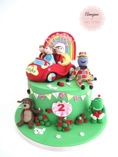 The Wiggles! I created this wiggles cake for lil Ruby :) Wiggles Birthday, Baby Boy Birthday Cake, Wiggles Party, First Birthday Cakes, 2nd Birthday, Birthday Ideas, Wiggles Cake, The Wiggles, Cupcake Party