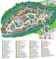 The Island in Pigeon Forge-map