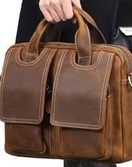 Genuine Leather Messenger Bag Briefcase Bag Cross Body Cool Chest Bag Sling Bag Travel Bag Hiking Bag For Men