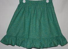 Green Skirt    Size 2 tp 8 by bubblenbee on Etsy