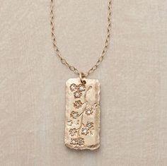Victoria Cunningham 14k Gold Sakura Scroll Necklace