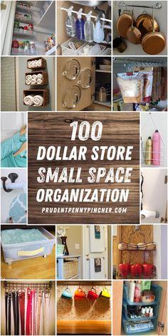 Dollar Tree Organization, Small Space Organization, Diy Organization, Organizing Ideas, Organizing Life, Easy Diy Room Decor, Diy Bathroom Decor, Bathroom Ideas, Craft Room Storage