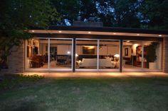 Dream Home Design, House Design, Modern Landscape Lighting, Modern Porch, Bloomfield Hills, Village Houses, House Extensions, Metal Homes, Modern Landscaping