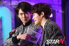 [NEWS PHOTOS] 150128 에스엠루키즈 SMROOKIES SR15B MCs 재현 JAEHYUN & 도영 DOYOUNG @ MBC 쇼챔피언 Show Champion. [3P]