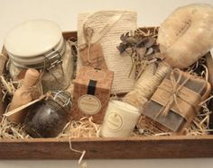 Nail Care and Candle Luxury Spa Set // Spa by KennethandKenneth