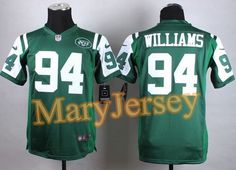 """$23.88 per one, welcome email """"MaryJersey"""" at maryjerseyelway@gmail.com 2015 NFL Draft Nike Jets 94 Leonard Williams Green Team Color Youth Stitched Elite Jersey"""