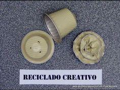 Cómo hacer flores con cápsulas de café - How to make flowers out of recycled…