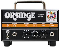 Here's a look at the new hybrid tube/solid-state amp: Orange Micro Dark