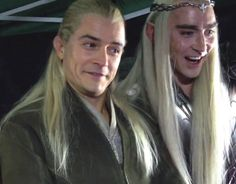 Legolas and Thranduil demonstrating Elven dignity. Too funny! :D
