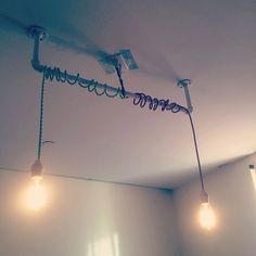 Fabric wired pipe light by KleincraftsStore on Etsy