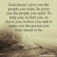 God gives us people