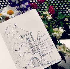 I went out of my comfort zone today and as expected I'm not really satisfied: there is a LOT to improve...I did not have the time to pencil sketch it and inked free hand directly. Reference is like five minutes walking from home where nature and architecture live together. Good night witches.   #sketch #freehand #architecture #moulin #mill #sketchbook #pigma #micron #doodle #naturewalk #urbanscape  #dibujo #ink #penandink #croquis #art #natureart #arquitectura #reallife #scribblings…