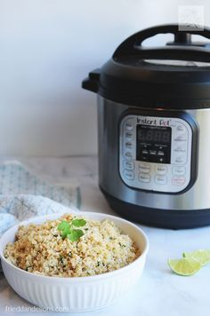 This nutty Instant Pot Quinoa is about to be your new go to side dish. It comes together in just minutes, and the Instant Pot does the rest of the work for you! #vegan #glutenfree #instantpot via @frieddandelions