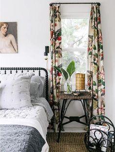 Barkcloth drapes