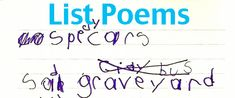 How to Write a List Poem