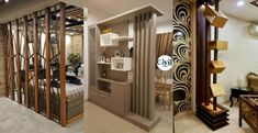 45 Brilliant Partition Wall Design Ideas To Blow You Away - Engineering Discoveries Room Partition Wall, Bathroom Partitions, Living Room Partition Design, Pooja Room Door Design, Room Partition Designs, Ceiling Design Living Room, Wall Design, House Design, Foyer Design