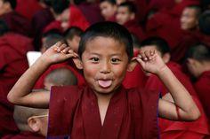 buddhist monks....