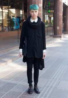 I love everything about this look except for the length of the hair (Street Style from Helsinki)