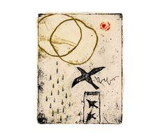 Kumi Obata / Starry Night, After Shower / 夕立のち、星空 / 150×115mm
