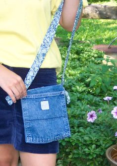 How to Make a Denim Pocket Book or Handbag from an old pair of jeans