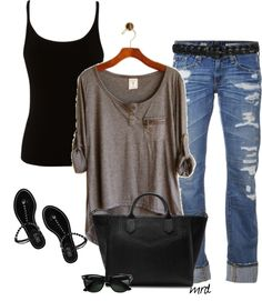 ❤ this slouchy look.  Oh this looks so comfy!!!