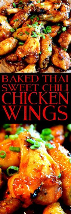 Baked Thai Sweet Chili Chicken Wings