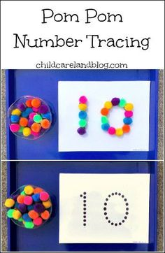 Pom Pom Number Tracing - Pinned by @PediaStaff – Please Visit ht.ly/63sNt for…                                                                                                                                                                                 Más