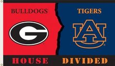NCAA Georgia - Auburn 3-by-5 Foot Flag with Grommets - Rivalry House Divided by BSI. Save 17 Off!. $16.56. Show everyone that your house is divided by die-hard fans of these two rivals by hanging up this 3 by 5-foot Collegiate flag from B.S.I Products. This officially licensed flag is made of durable, 100% polyester and is designed with 2 heavy-duty metal grommets so it is easy to hang. This high-quality flag is decorated in both team's colors and proudly displays the official tea...