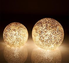 Gold Capiz Globe Lamps for Table or Floor by Collectiviste on Etsy Cool Globes, Shell Lamp, Globe Lamps, Handmade Lamps, Unique Lamps, Night Lamps, Bedside Lamp, Glass Globe, Home Lighting