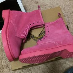 Dr Martens 1460  Pink Size:UK3-UK6 ,Email:wangxia11073@hotmail.com Dr Martens 1460, Dr. Martens, Cherry Red, Timberland Boots, Red Green, Pink, Shoes, Black, Fashion