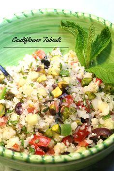 Cauliflower Tabouli #glutenfree #vegan #salad