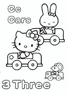 Printable Hello Kitty Coloring Pages 5