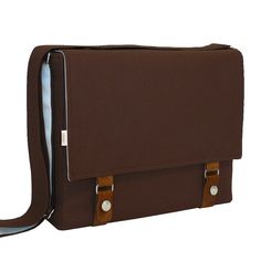 15 Laptop Messenger Bag  Brown Messenger Laptop Bag by R2SD, $75,00