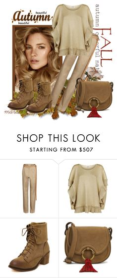 """Beautiful Autumn"" by marastyle ❤ liked on Polyvore featuring Loewe, Lanvin and Tory Burch"