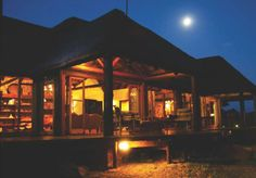 Outside Kudu Lodge at night Private Games, Vernacular Architecture, Game Reserve, Heritage Site, Lodges, My Dream, South Africa, Beautiful Homes, Gazebo