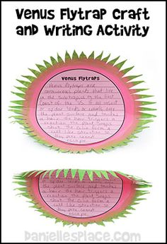 Venus Flytrap Paper Plate Craft with Writing Sheet Template from www.daniellesplace.com