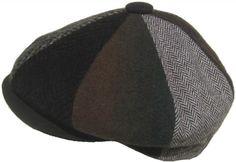 Broner Wool Patchwork 8/4 Gatsby Cap Woolrich Fabric Apple Jack Newsboy Hat Made in USA